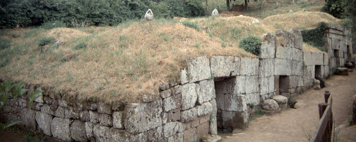 Etruscan tombs at Orvieto, Italy — about 45 northwest from where Dr. Sarah Harvey and her colleagues discovered a likely Etruscan necropolis 在 summer 2019.